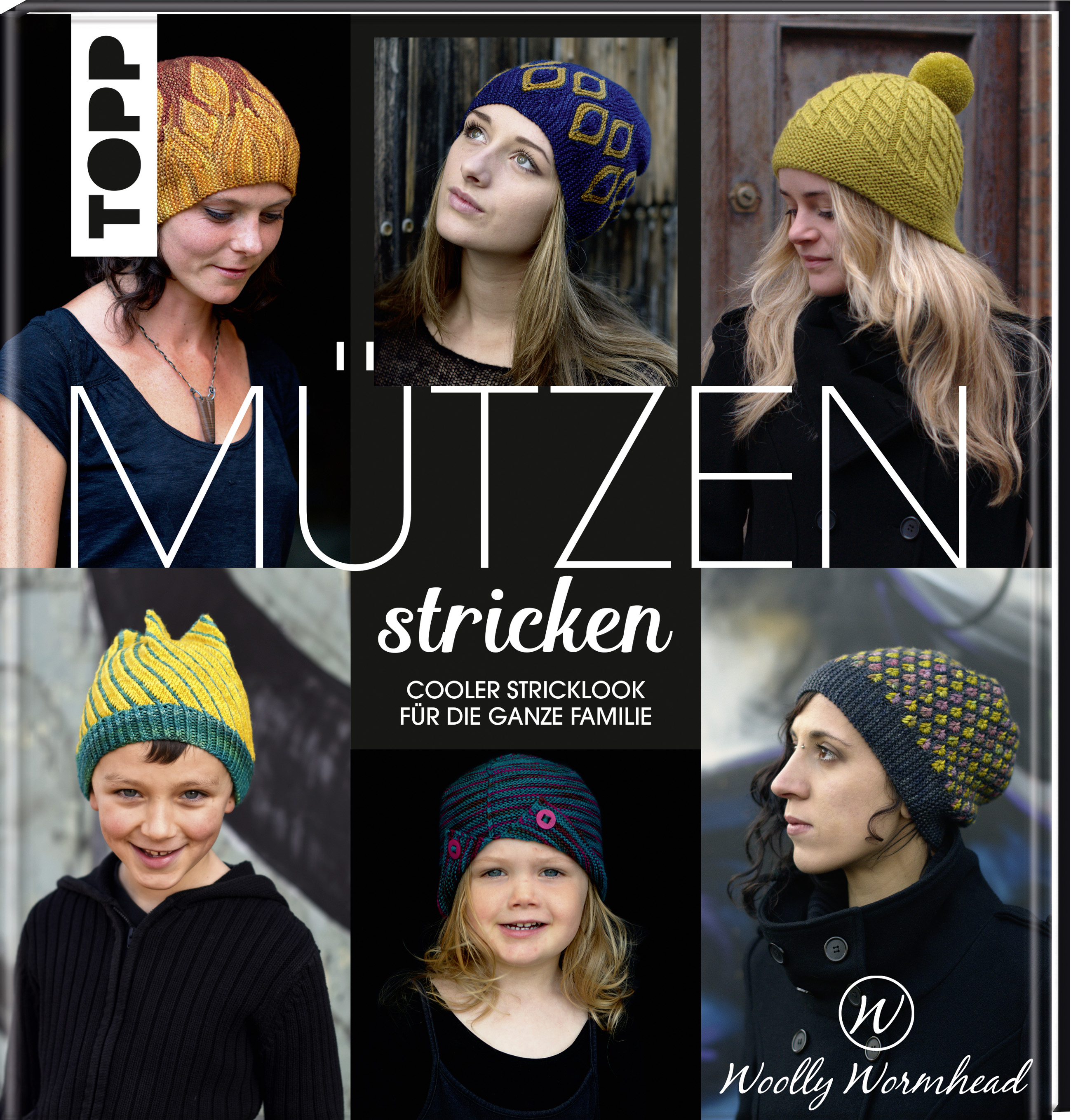 TOPP Mützen stricken by Woolly Wormhead